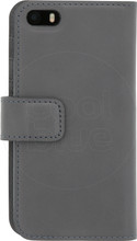 Senza Pure Leather Wallet iPhone 5/5S/SE Book Case Grijs