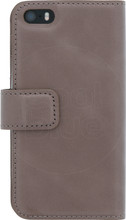 Senza Pure Leather Wallet iPhone 5/5S/SE Book Case Bruin