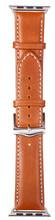 Copenhagen Apple Watch 38/40mm Leren Horlogeband Bruin/Zilve
