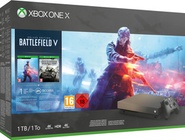 Microsoft Xbox One X 1 TB Battlefield V Gold Rush Special Ed