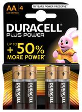 Duracell Plus Power alkaline AA-batterijen 4 stuks