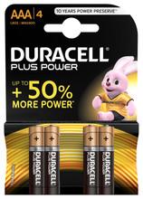 Duracell Plus Power alkaline AAA-batterijen 4 stuks