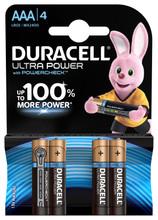 Duracell Ultra Power alkaline AAA-batterijen 4 stuks