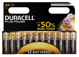 Duracell Plus Power alkaline AA-batterijen 12 stuks