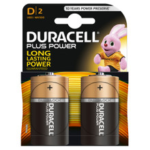 Duracell Plus Power alkaline D-batterijen 2 stuks