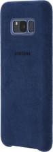 Samsung Galaxy S8 Plus Alcantara Back Cover Blauw