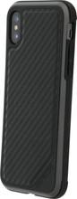 X-Doria Defense Lux Carbon iPhone X Back Cover Zwart