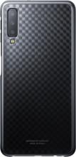 Samsung Galaxy A7 (2018) Gradation Clear Back Cover Zwart