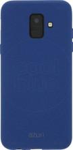 Azuri flexible sand Galaxy A6 (2018) Back Cover Blauw