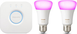Philips Hue White & Color Duopack inclusief Bridge