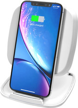ZENS Single Fast Wireless Charger Stand 10W Wit