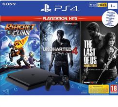 Sony PS4 Slim 1 TB PlayStation Hits bundel (3 games)