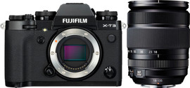 Fujifilm X-T3 Zwart + XF 18-135mm f/3.5-5.6 R LM OIS WR