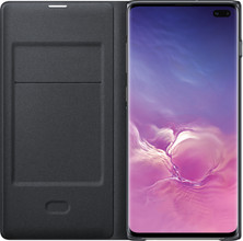 Samsung Galaxy S10 Plus LED View Cover Book Case Zwart