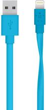 Belkin Flat Lightning Kabel Blauw 1.2m