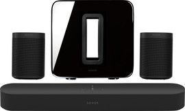 Sonos 5.1 Beam + One (2x) + Sub Zwart