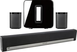 Sonos 5.1 Playbar + Play:1 (2x) + Sub Zwart
