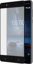 Azuri Nokia 8 Screenprotector Curved Gehard Glas Zwart