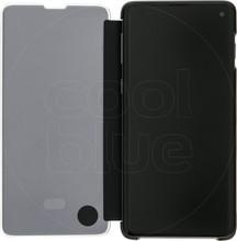 Samsung Galaxy S10 Clear View Cover Book Case Zwart