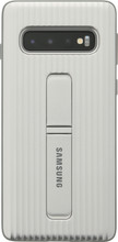 Samsung Galaxy S10 Protect Stand Back Cover Zilver