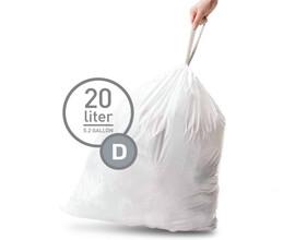 Simplehuman Afvalzak Code D - 20 Liter (20 stuks)