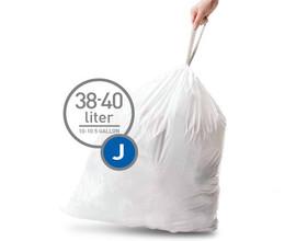 Simplehuman Afvalzak Code J Pocket Liner 38 Liter (60 stuks)