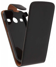 Xccess Leather Flip Case Samsung Galaxy Xcover 2 Black