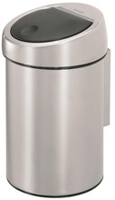 Brabantia Touch Bin 3 L Geborsteld Staal Fingerprint Proof
