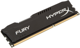 Kingston HyperX Fury 8 GB DIMM DDR3-1600 zwart