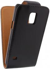 Xccess Leather Flip Case Samsung Galaxy S5 Mini Zwart