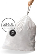 Simplehuman Afvalzak Code P Pocket Liner 50 Liter (60 stuks)