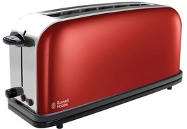 Russell Hobbs Colours Long Slot Rood Broodrooster