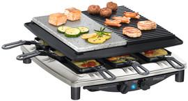 Steba RC4 Plus Deluxe RVS Steengrill Gourmet Raclette