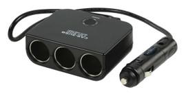 HQ 3-weg autoverdeeladapter 12 V + USB