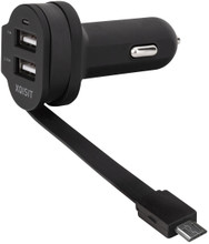 Xqisit Autolader Dual USB 6Ah Micro USB