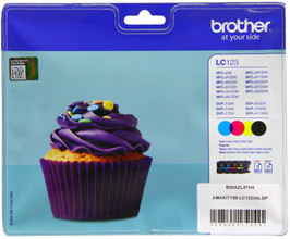 Brother LC-123 Colour Value Pack (BCMY)