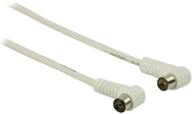 Valueline Coax Antennekabel Haaks 1 meter