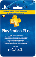 Sony PlayStation Plus Card 12 Maanden BE