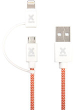 A-Solar Xtorm Dual Kabel Lightning/Micro USB 1m
