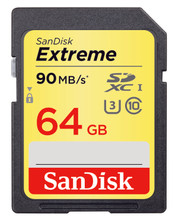 Sandisk SDXC Extreme 64GB 90MB/s Class 10