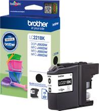 Brother LC-221BK Cartridge Zwart