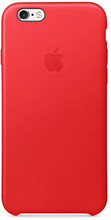 Apple iPhone 6/6s Leather Case Rood