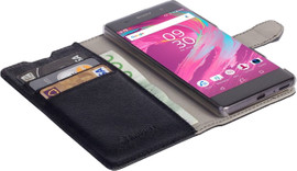 Krusell Boras Book Case Sony Xperia XA Zwart