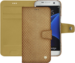 Noreve Tradition B Snake Leather Case Galaxy S7 Edge Beige