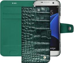 Noreve Tradition B Crocodile Leather Case Galaxy S7 Edge Gro