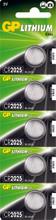 GP Lithium Knoopcel CR2025 Blister 5