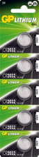 GP Lithium Knoopcel CR2032 Blister 5