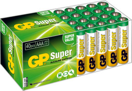 GP Super Alkaline 40-pack AAA