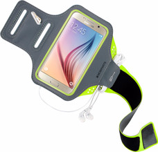 Mobiparts Comfort Fit Sportarmband Galaxy S6 Groen