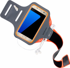 Mobiparts Comfort Fit Sportarmband Galaxy S7 Oranje